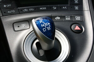 Shift lever with modes buttons
