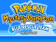 Pokémon Mystery Dungeon Blue Rescue Team Title Screen