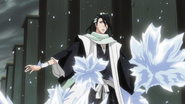 Byakuya Caught In The Ice