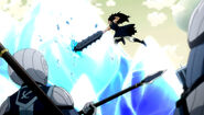 Gajeel attacks the lacrima