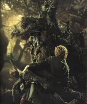 Treebeard grabs Pippin