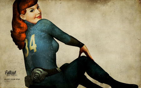 Vault girl pinup