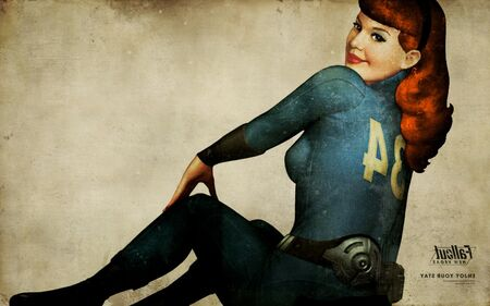 Vault girl pinup inverted