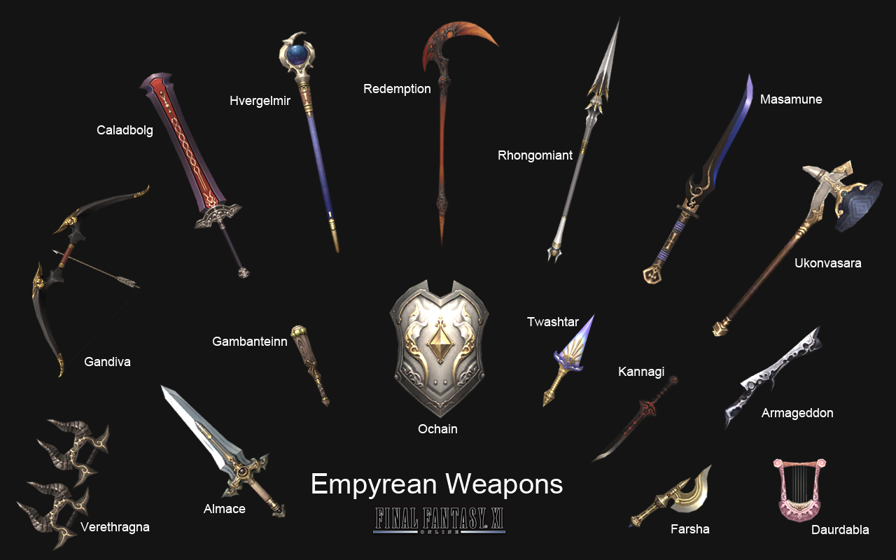 empyrean weapons are sixteen weapons in final fantasy xi obtainable ...
