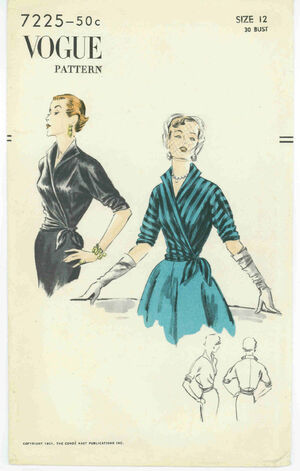 1940's Marian Martin Sweetheart Girdle Jumper, Blouse Pattern