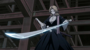Rangiku finds herself unable to wield her katana
