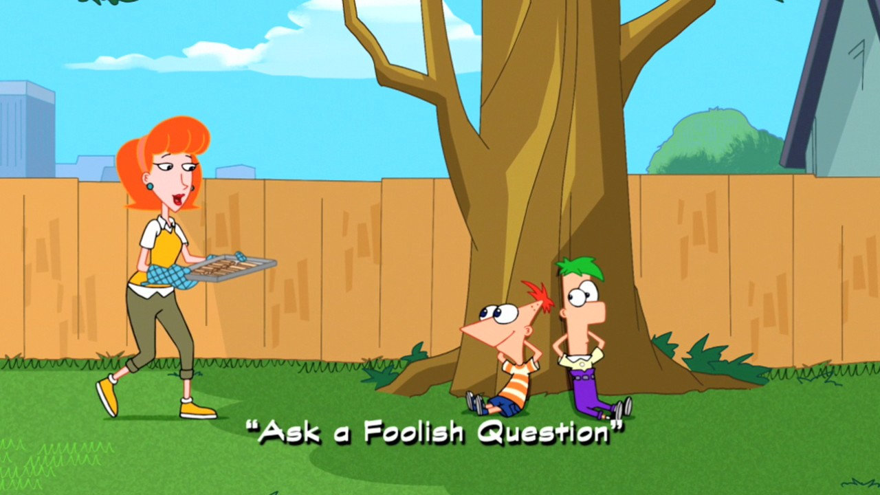 Ask a Foolish Quesion title card Phineas and Ferb New Inventions [PC]