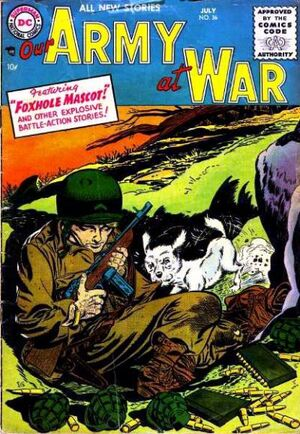 Cover for Our Army at War #36