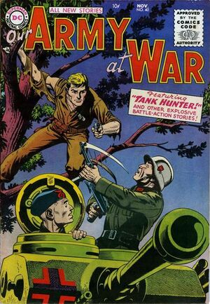 Cover for Our Army at War #40