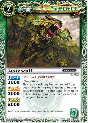 BS01 -battle spirits set 1 -spirits. 300px-Leavwolf2