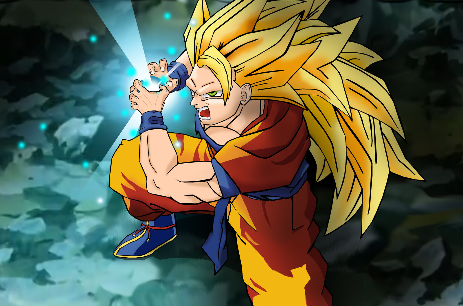 Full resolution      1 600   215  1 057 pixels  file size  297 KB  MIME    Goku Super Saiyan 4 Kamehameha X10