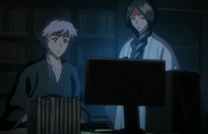 Unohana and Isane analyse Dangai information