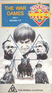 The War Games Part 1 VHS Australian cover