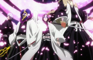 Byakuya surrounds the Reigai