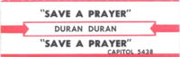 Save a prayer duran duran jukebox
