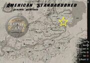 American standardbred location map