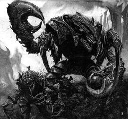 Old One Eye, a Carnifex - from the Warhammer 40k Wiki
