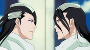 Ep327 - Byakuya & Reigai Byakuya face each other