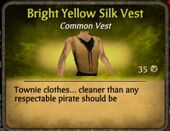 Bright Yellow Silk Vest