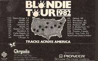 Blondie tour advert tracks across america duran duran 1982 usa