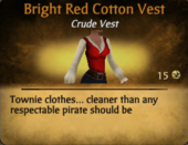Bright red cotton vest