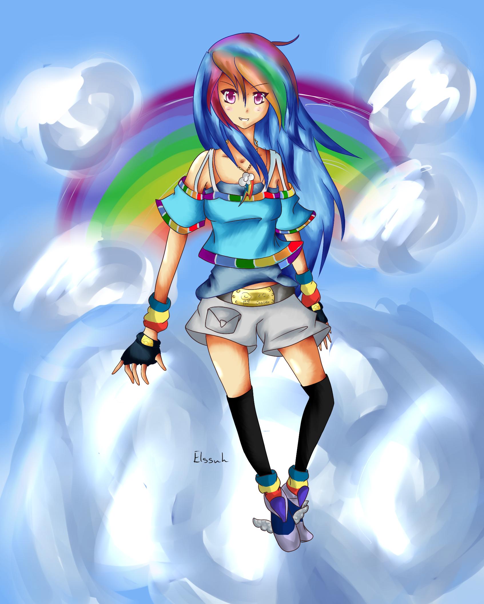 Rainbow Dash, Human Form Minecraft Skin