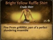 Bright Yellow Ruffle Shirt