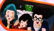 Gohan,Bulma,VidelAndPiccolo