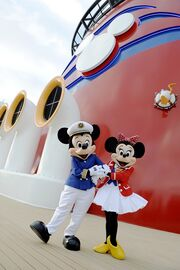 Minnie and Mickey on the Disney Dream