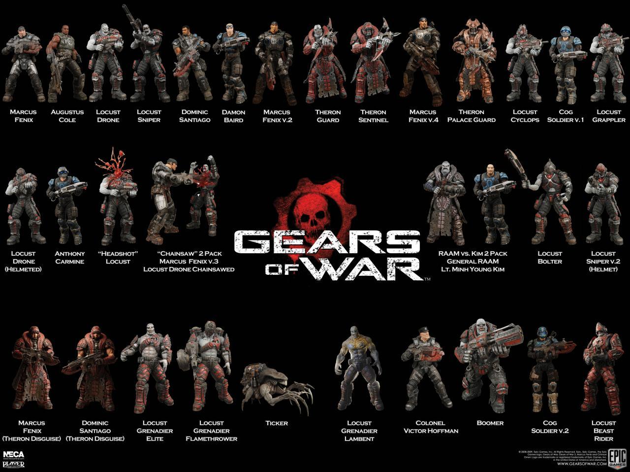 Figuras NECA De Gears Of War   GearsPedia