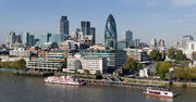 City of London skyline from London City Hall - Oct 2008