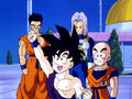 Gohan,Krillin,FutureTrunksAndYamcha
