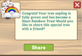 Rainbow tree message