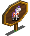 Flowered Horse Mastery Sign-icon