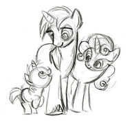 Unicorn Family Sketch