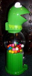 Kermit gumball machine 3