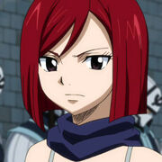 Erza Knightwalker with short hair (Close up)