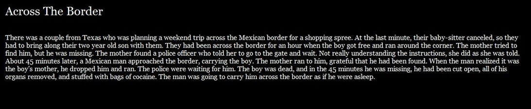 Across The Border