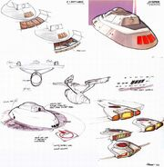 USS Enterprise refit bridge and impulse engines design evolution by Andrew Probert