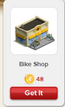 Bike Shop Rewardville unlocked