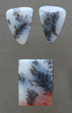 Moss agate-three