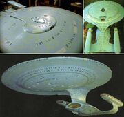 USS Enterprise-D studio model showing its true colors