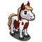 Brown Pinto Mini Horse-icon