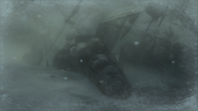 The crashed Hind D in the Snowfield (Metal Gear Solid 4)