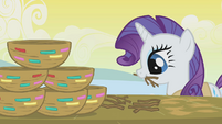 Rarity making a stack of nests S1E11