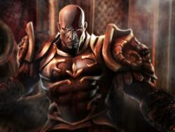 God of War 2 Kratos con armadura