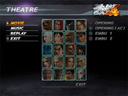 Tekken 4 Theatre Mode