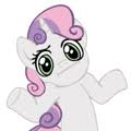 Shrug Sweetie Belle