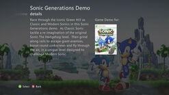 Sonic Generations xbox360 Marketplace3