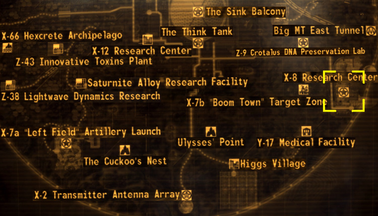 X-8 research center loc